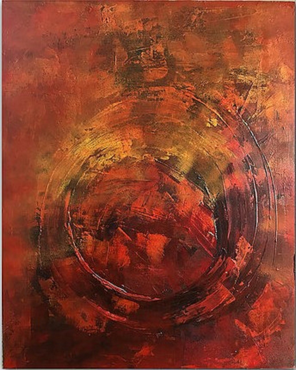Untitled 17 by Kartikey Sharma, Abstract Painting, Acrylic on Canvas, Brown color