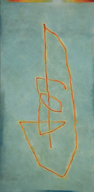 Untitled by R M Palaniappan, Minimalism Painting, Oil on Canvas, Green color