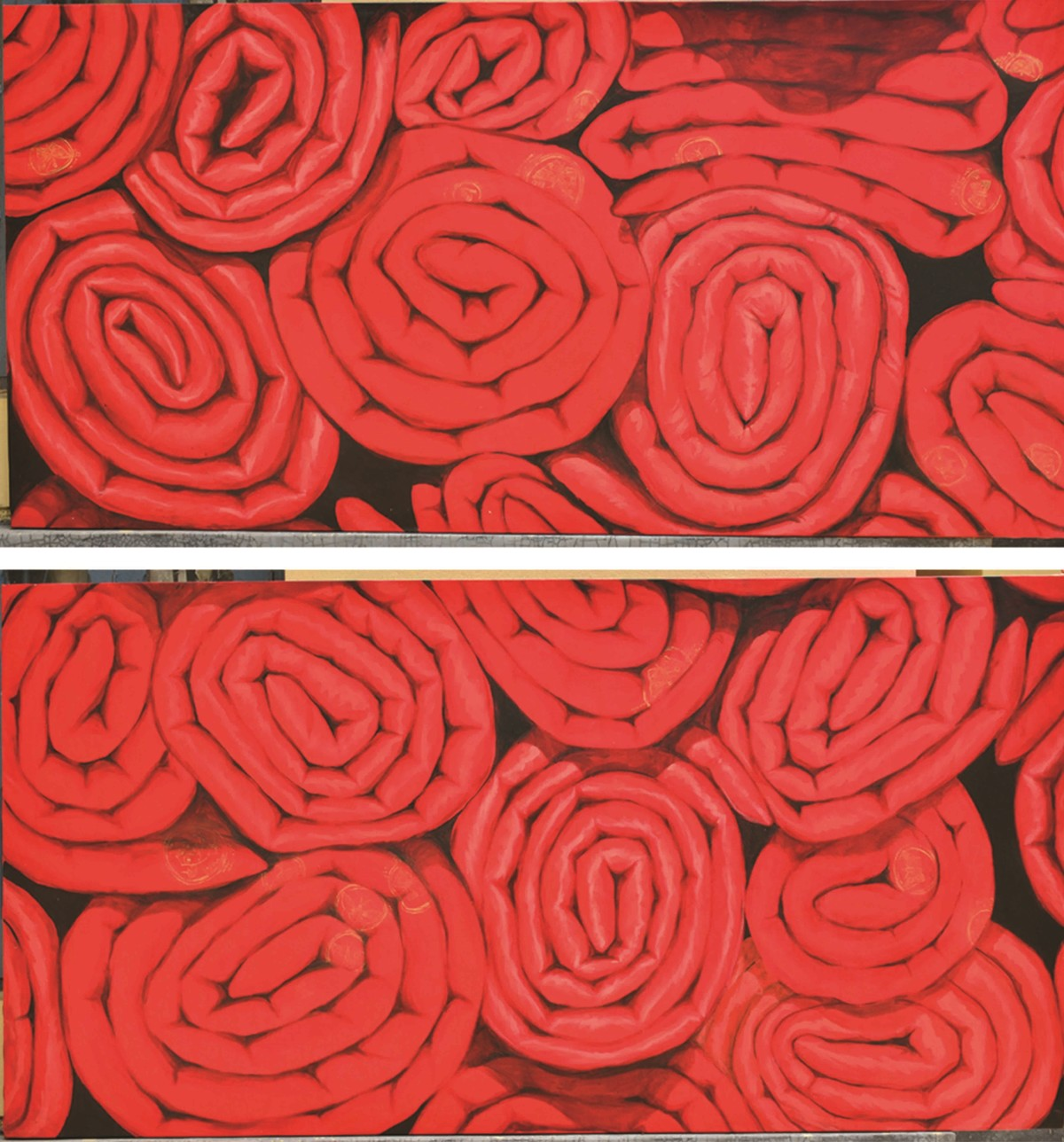 THE RED COIL by artist Sumit Sarkar – Impressionism, Painting ...