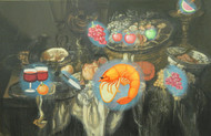 Life..Still..4 by Debajyoti Das, Expressionism Painting, Mixed Media on Canvas, Gray color