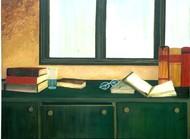Open Book Digital Print by Geetha Ramasesh,Impressionism