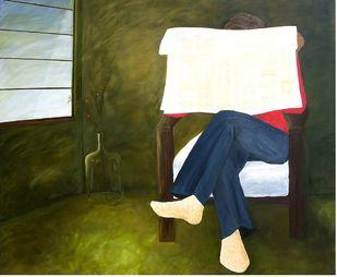 Morning news Digital Print by Geetha Ramasesh,Impressionism