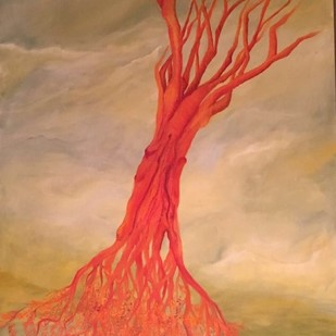 Roots Up Digital Print by Geetha Ramasesh,Expressionism