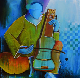musician Digital Print by anupam pal,Decorative