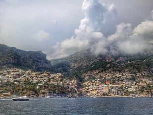 Positano II by Pranay Baidya, Image Photography, Digital Print on Paper, Gray color