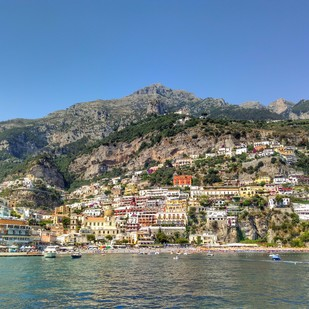Positano III by Pranay Baidya, Image Photography, Digital Print on Paper, Brown color