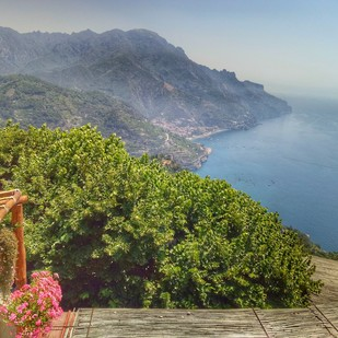 Ravello IV by Pranay Baidya, Image Photography, Digital Print on Paper, Green color