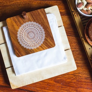 IVEI Mandala solid wood napkin holder - mandala Tissue Box By i-value-every-idea