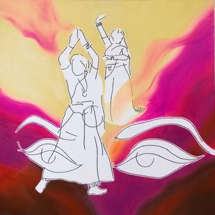 """Danicing Lines"" Digital Print by Kirti Varma ,Expressionism"