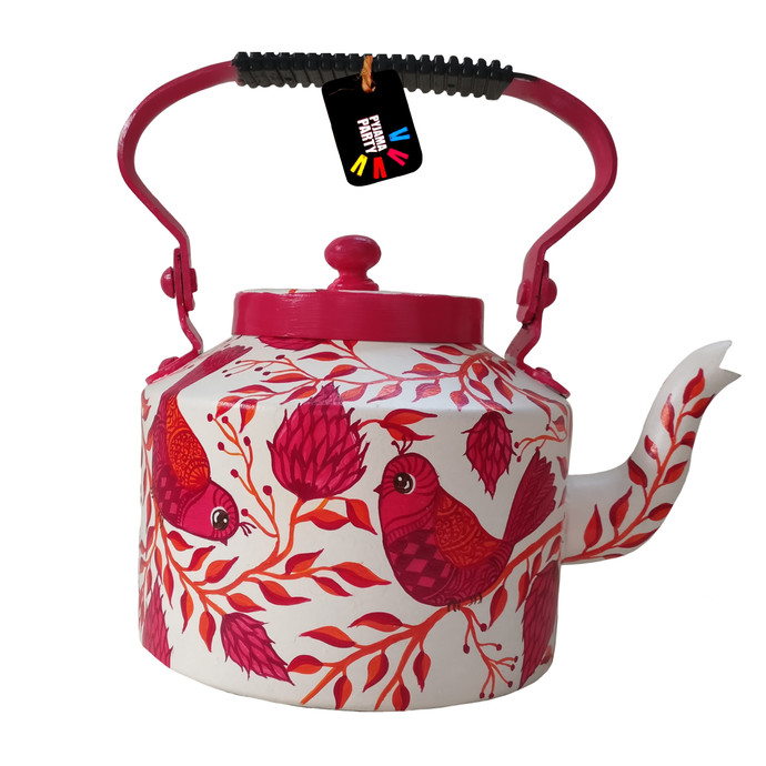 Enchanted Forest Pink Blossom hand-painted teapot Serveware By Pyjama Party Studio