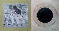HELIOSPHERE INTERSTELLAR MEDIUM by V .Hariraam , Abstract Painting, Acrylic on Board, Gray color