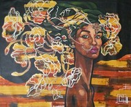 thoughts revealed by Suruchi Jamkar, Expressionism Painting, Acrylic on Canvas, Brown color