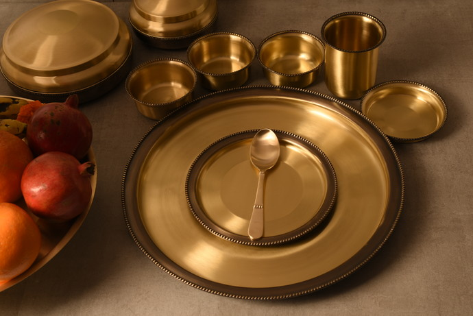 COURTYARD RAJBHOG THAL SET Kitchen Ware By COURTYARD