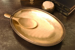 COURTYARD RAJBHOG RICE PLATE WITH SERVER Kitchen Ware By COURTYARD