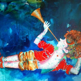 Passion of the childhood xiv Digital Print by shiv kumar soni,Expressionism
