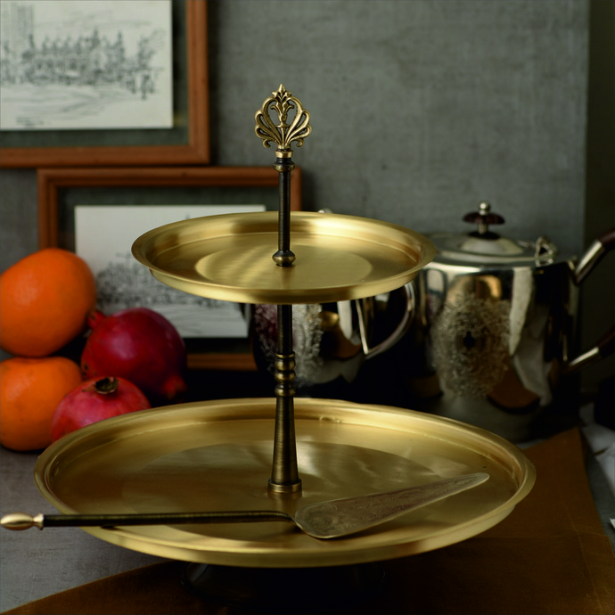 COURTYARD UMANG KONKAN CAKE STAND WITH SERVER Kitchen Ware By COURTYARD