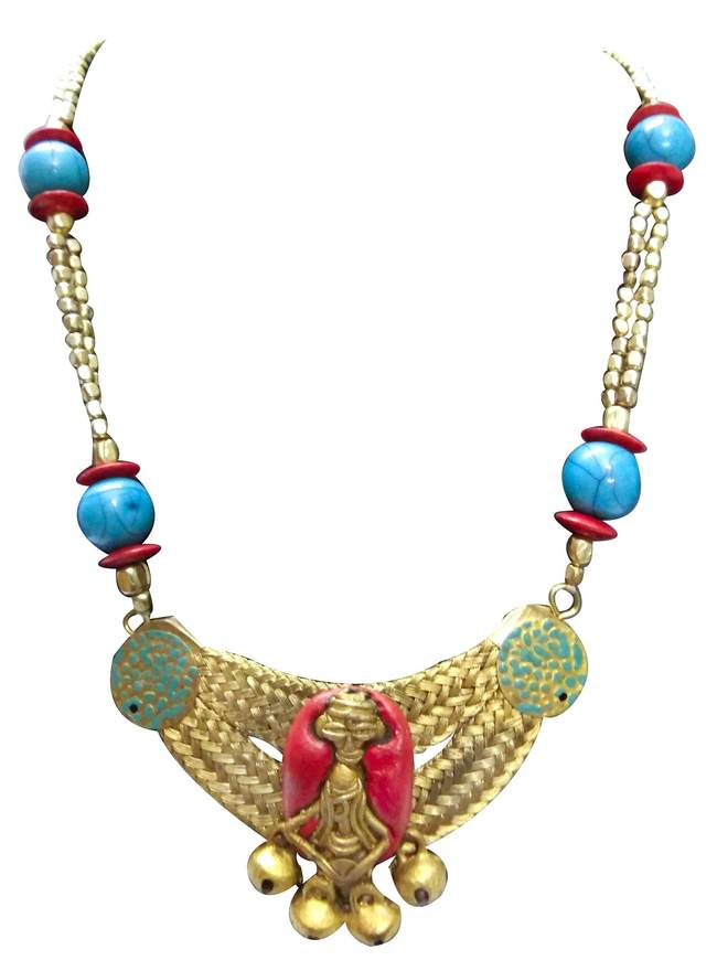 Necklace of Dhokra Art Brass Pendant by eGenie Art, Traditional Necklace
