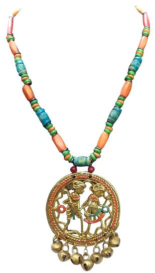 Necklace of Dhokra Art Brass Pendant Necklace By eGenie Art