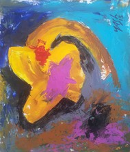 Respect of the Art-23 by yashpal gambhir, Impressionism Painting, Acrylic on Paper, Brown color