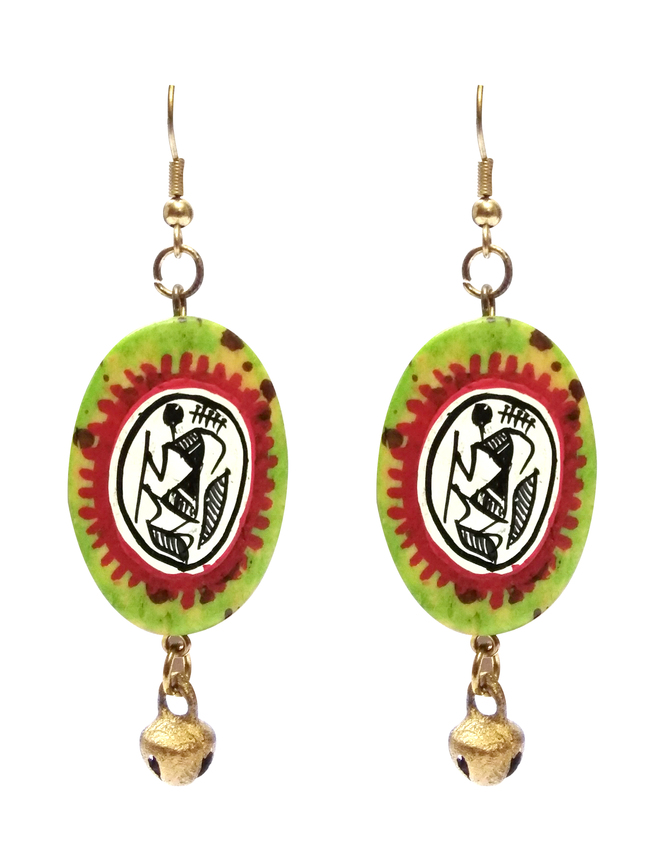 Hand Painted Warli Art Earring by eGenie Art, Traditional Earring