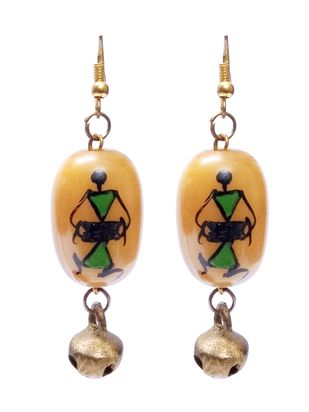 Hand Painted Warli Art Earring by eGenie Art, Earring