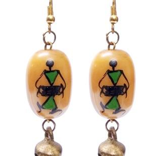 Hand Painted Warli Art Earring by eGenie Art, Earring