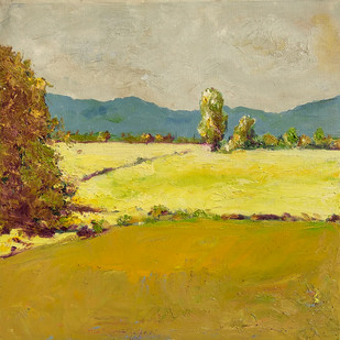 Landscape: Chhattisgarh-3 by Animesh Roy, Expressionism Painting, Oil on Canvas, Beige color