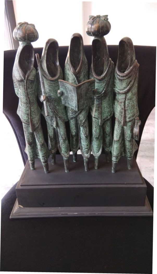 March for Better Tomorrow by N.S. Rana, Art Deco Sculpture | 3D, Bronze, Gray color