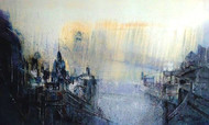 Monsoon day's by Dnyaneshwar Dhavale , Abstract Painting, Acrylic on Canvas, Beige color