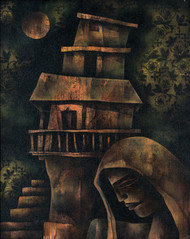 Retrospective by Shekhar Roy, Expressionism Painting, Acrylic on Canvas, Gray color