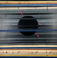 Illusion by Subhendu, Geometrical Painting, Acrylic on Canvas, Gray color