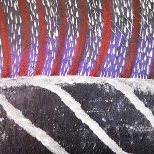 Raindrops by Najmuddin Kachwala, Abstract Painting, Acrylic on Canvas, Brown color