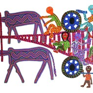 Bhil09    artist  bhuri bai   size 13''x20'' price 15000