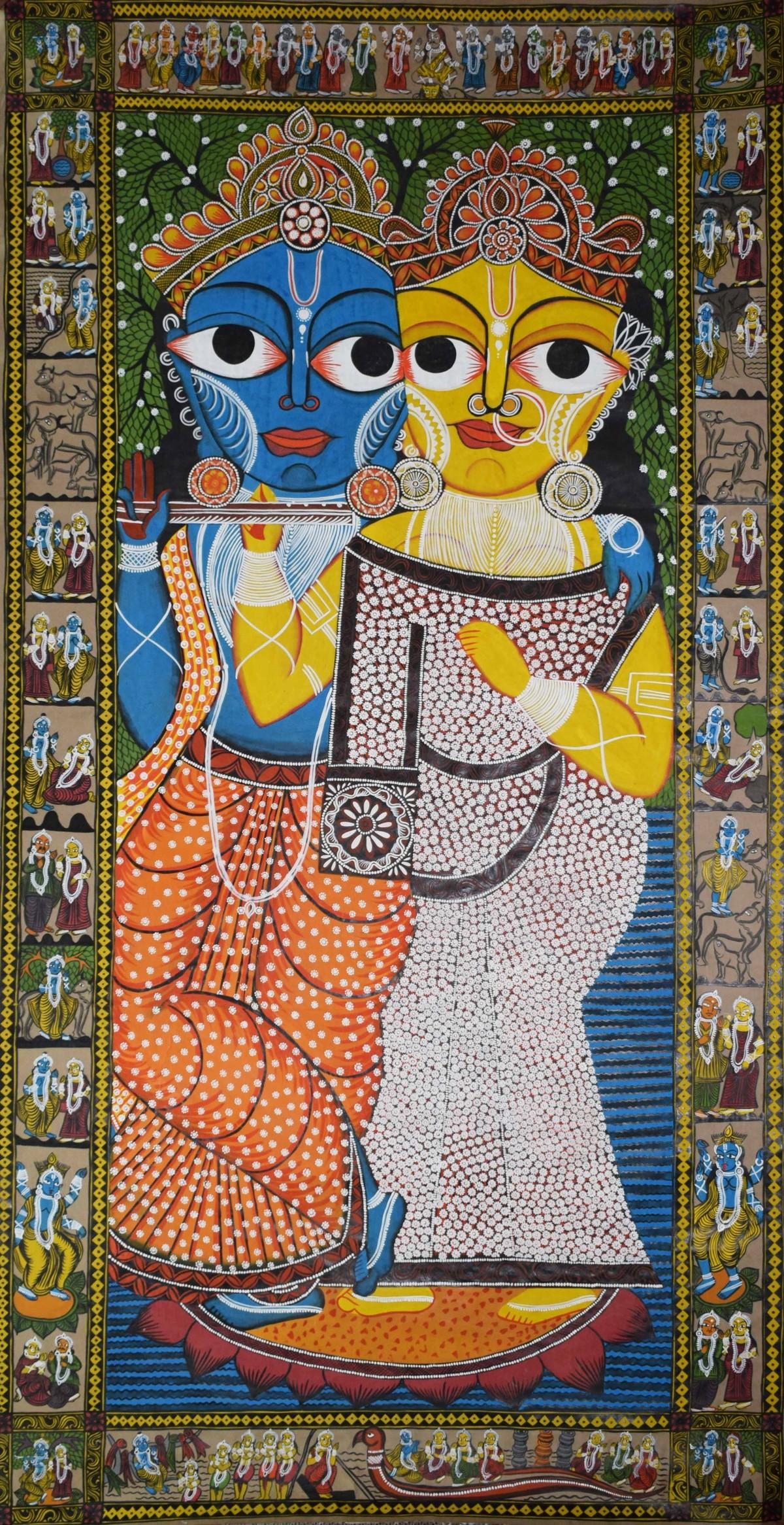 Bengal Style Scroll Art By Artist Unknown Artist Folk
