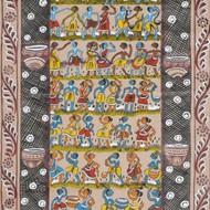 Bengal scroll 43     artist  montu chittrakar     size 114''x22''    price 35000