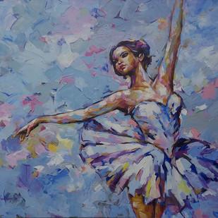 ballerina series Digital Print by Anindya Mukherjee,Expressionism