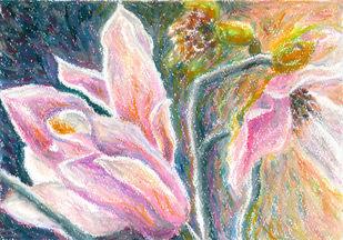 Magnolia series 1 Digital Print by Shalini Sinha,Impressionism