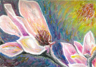 Magnolia series 3 Digital Print by Shalini Sinha,Impressionism
