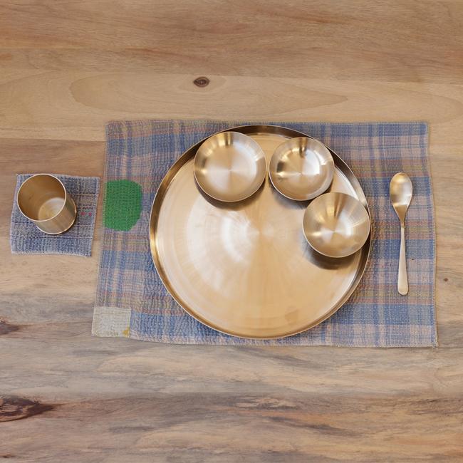 Ayurveda Pure Kansa Bronze Dinner Thali Set Kitchen Ware By De Kulture Works