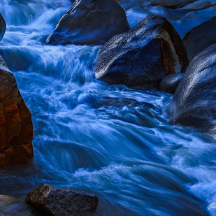 Morning Stream by Minhajul Haque, Image Photography, Inkjet Print on Archival Paper, Blue color