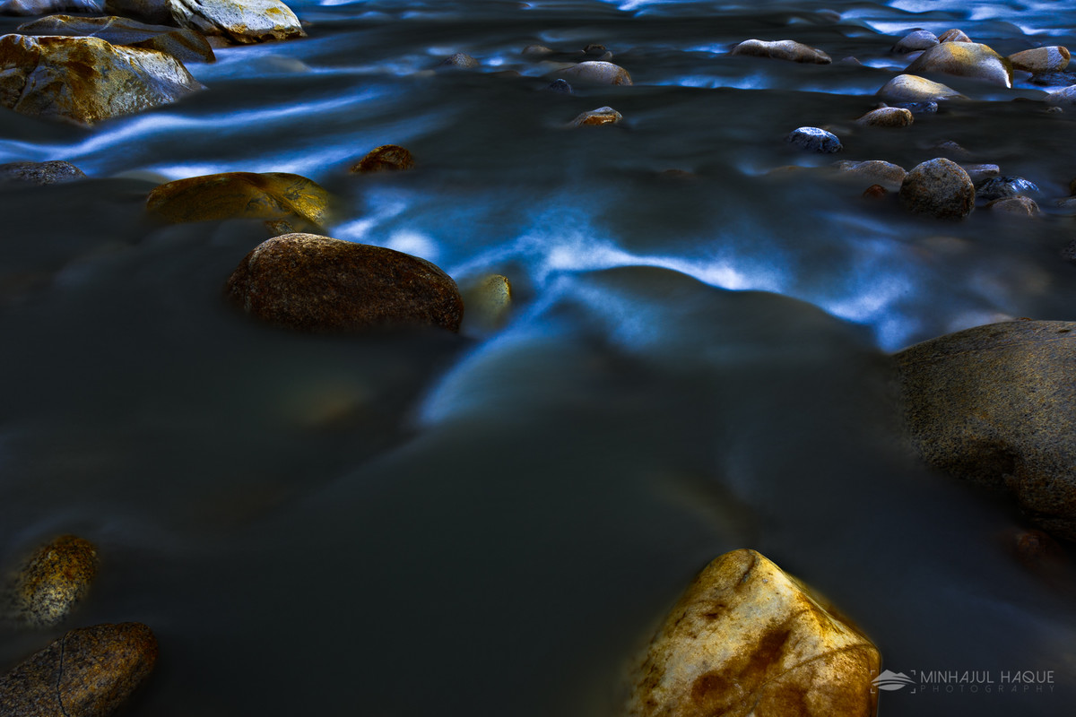 Creek in Twilight, Gangotri National Park, UT by Minhajul Haque, Image Photography, Print on Paper, Blue color