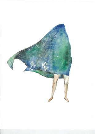 Blankets by Laila Vaziralli, Expressionism Painting, Watercolor on Paper,