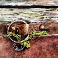 Abandoned rust 21x29 inch watercolour on acid free paper 20018