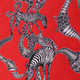 Untitled 2 by Umed Rawat, Expressionism Painting, Acrylic & Ink on Paper, Red color