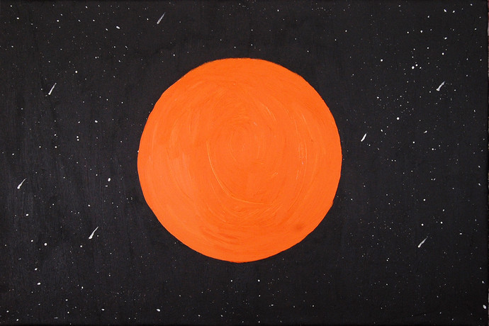The Sun by Najmuddin Kachwala, Abstract Painting, Acrylic on Canvas, Gray color