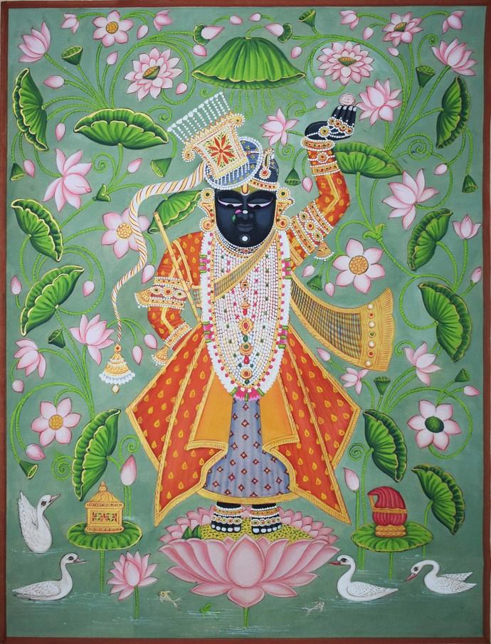 Pichwai Art By Artist Unknown Artist Folk Painting