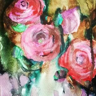 Rosebush Digital Print by Rupinder kaur,Expressionism