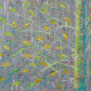 soul tree : amity by Cheena Madan, Expressionism Painting, Acrylic on Canvas, Green color