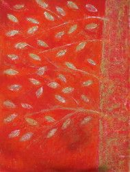 soul tree : joy by Cheena Madan, Expressionism Painting, Acrylic on Canvas, Red color