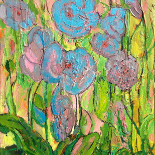 Orchids Digital Print by Animesh Roy,Expressionism